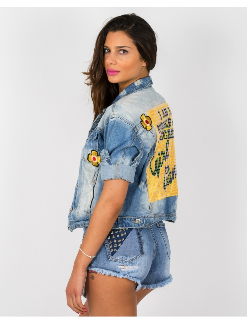 Denim Jacket Girl Gang