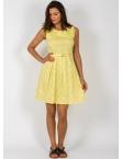 Φόρεμα Πουά Κίτρινο Vintage