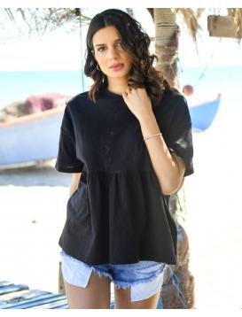 Κοντομάνικη Μπλούζα Μαύρη