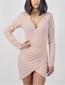 Φόρεμα Κρουαζέ Με Σκίσιμο Ροζ