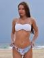 Bikini Tropical Print Λευκό