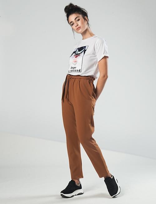 Papperbag Παντελόνι Camel