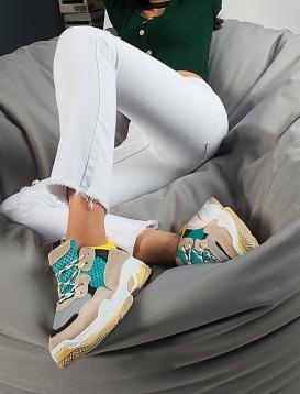 U Sneakers Με Ανάγλυφα Σχέδια