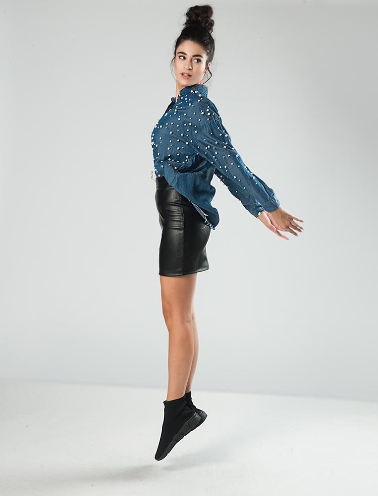 f79e0f5aee8b Γυναικεία Φούστα Δερματίνι Μαύρη Φερμουάρ - YourFashion.gr