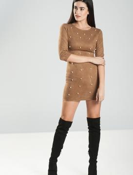 Σουέτ Φόρεμα Camel