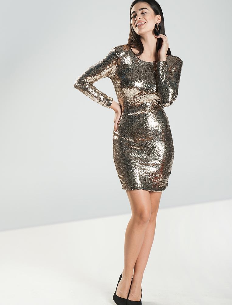 3fd005bc331a Γυναικείο Φόρεμα Sequin Χρυσό - Yourfashion.gr