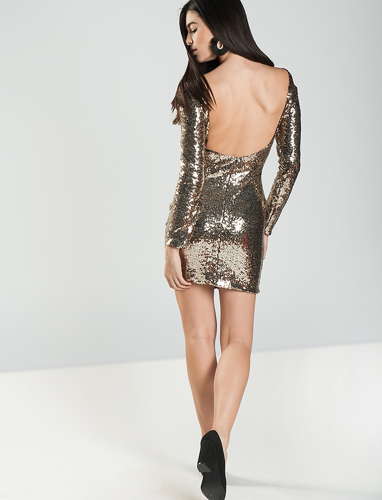 ca887c03b91f Γυναικείο Φόρεμα Sequin Χρυσό - Yourfashion.gr