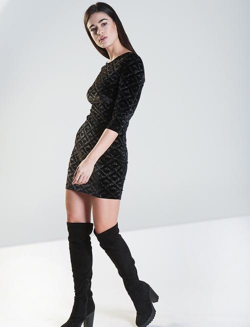 Μαύρο Φόρεμα με Glitter
