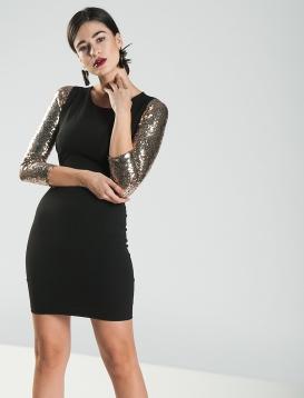 Φόρεμα Χιαστή Παγιέτα Χρυσή