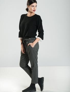 Μπλούζα Πλεκτή με Δανδέλα Μαύρη