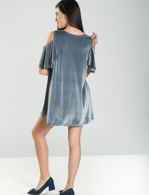 Βελούδινο Off Shoulder Φόρεμα