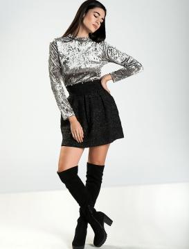 Φούστα Μίνι Metallic Μαύρη