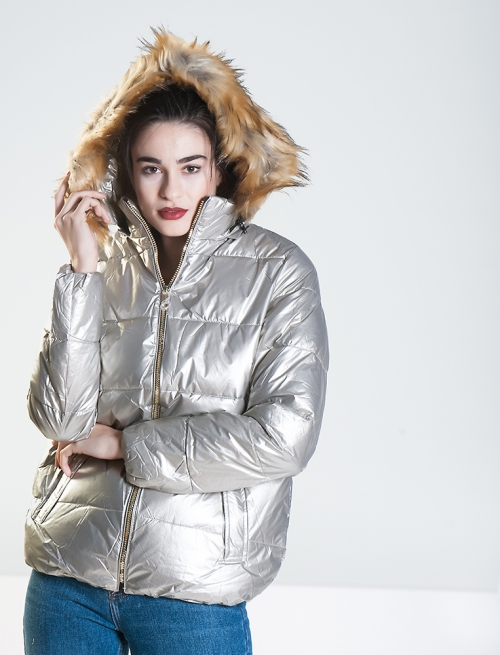 Puffer Jacket Silver
