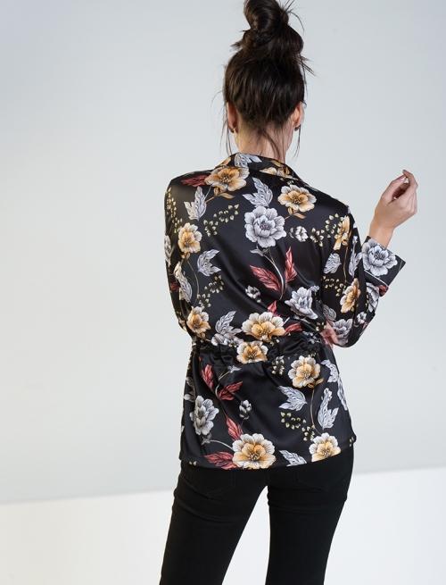 Σακάκι Floral Μαύρο
