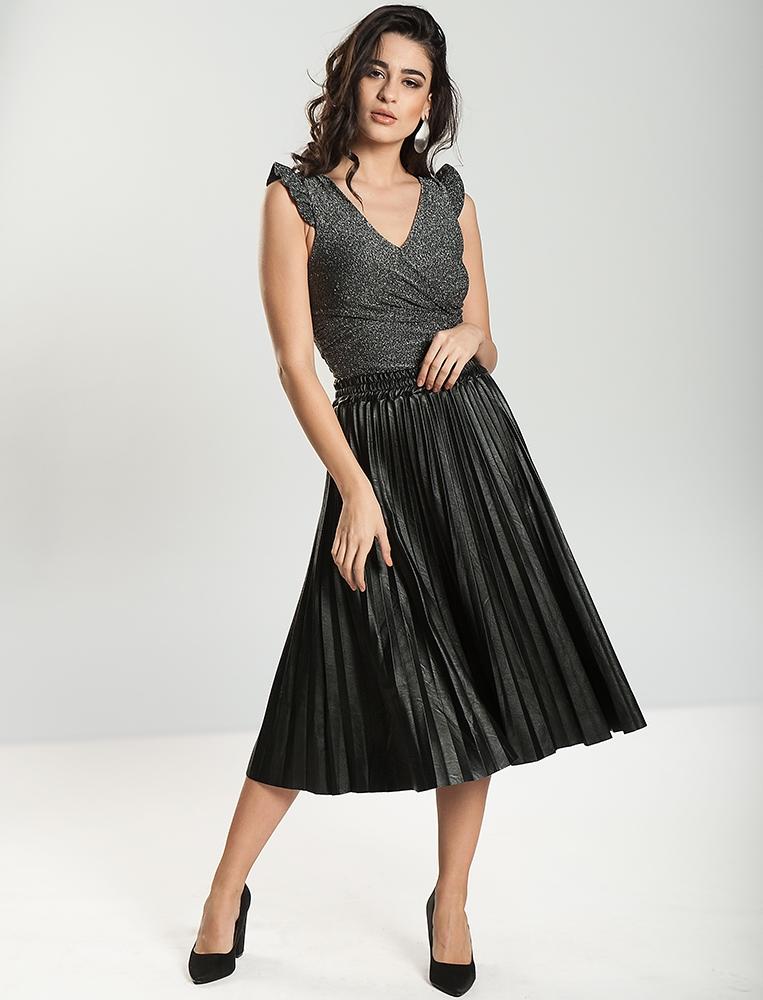 Γυναικεία Φούστα Δερματίνι Πλισέ Μαύρη - YourFashion.gr 4bd0156583c