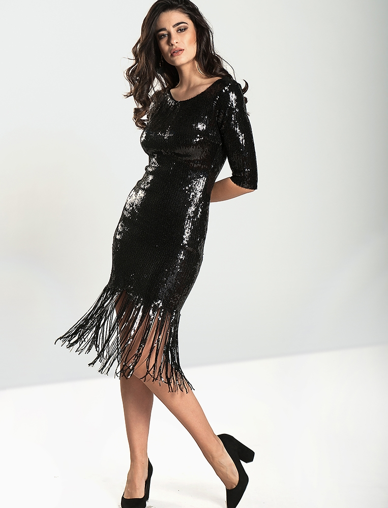 51e2f40cfa18 Γυναικείο Φόρεμα Sequin Με Κρόσσια-YourFashion
