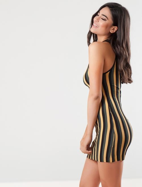 Φόρεμα Κίτρινο Ριγέ