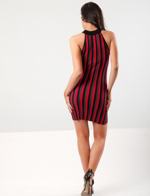 Φόρεμα Κόκκινο Ριγέ