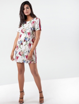 Floral Φόρεμα Άσπρο