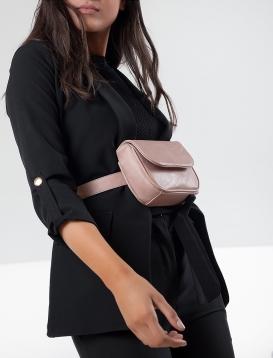 Τσάντα Μέσης Ροζ Παστέλ