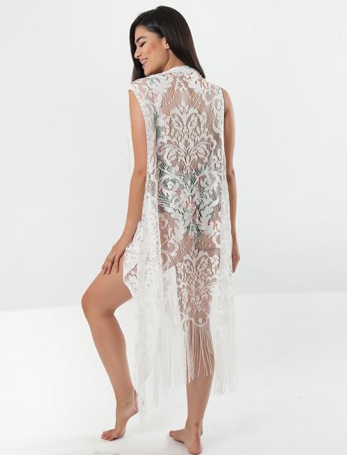Λεύκο Fringe Kimono