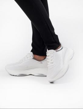 Sneakers Λευκό / Ασημί