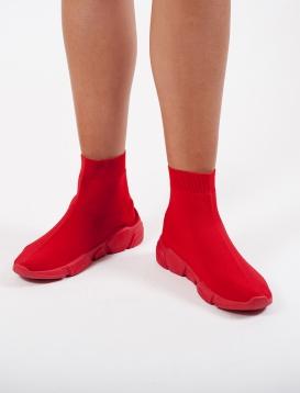 Sneaker Bootie Κόκκινο