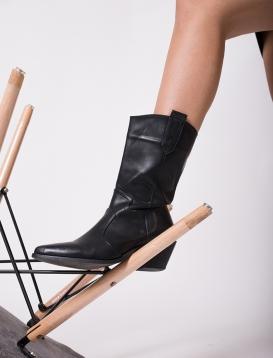 Cowboy Boots Μαύρo