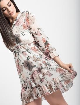Φόρεμα Μπεζ Floral