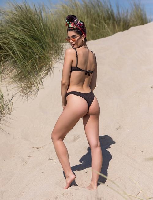 Bikini Μαύρο Με Κουμπάκι