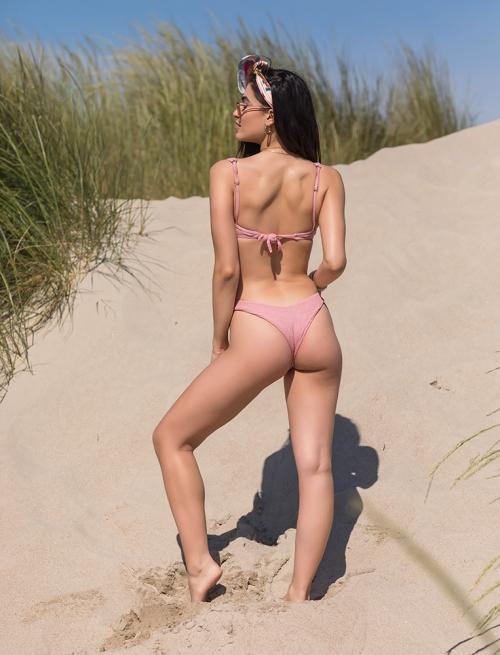 Bikini Ροζ Με Κουμπάκι
