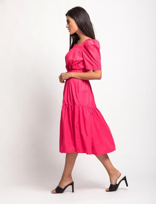 Φόρεμα Φουσκωτό Μανίκι Φουξ