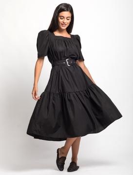 Φόρεμα Φουσκωτό Μανίκι Μαύρο