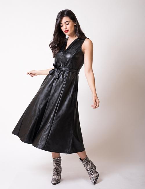 Φόρεμα Δερματίνη Μακρύ