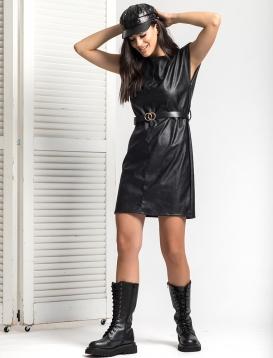 Φόρεμα Δερματίνη Με Βάτα