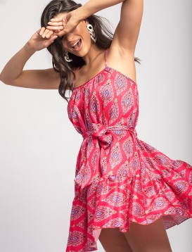 Φόρεμα Μίνι με Σχέδιο Φουξ